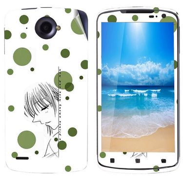 Snooky 39117 Digital Print Mobile Skin Sticker For Lenovo S920 - White