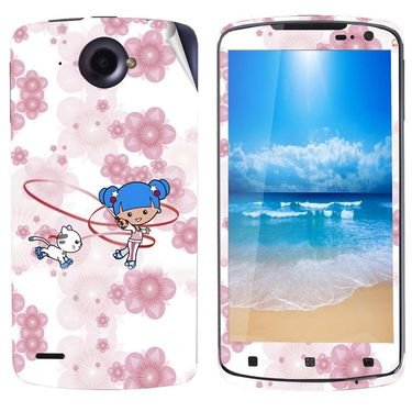 Snooky 39124 Digital Print Mobile Skin Sticker For Lenovo S920 - White