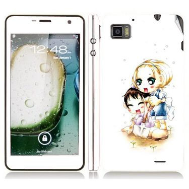Snooky 39133 Digital Print Mobile Skin Sticker For Lenovo K860 - White