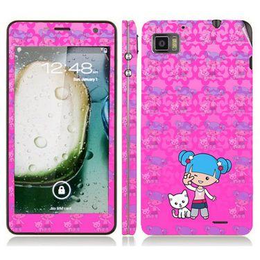 Snooky 39135 Digital Print Mobile Skin Sticker For Lenovo K860 - Pink
