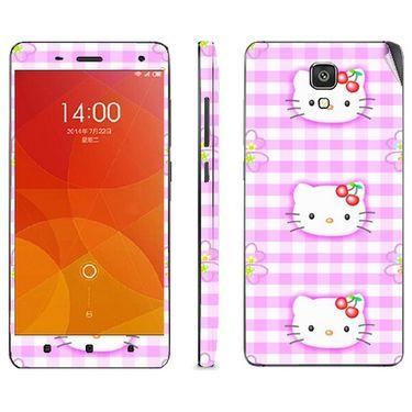 Snooky 39200 Digital Print Mobile Skin Sticker For Xiaomi Mi4 - Pink