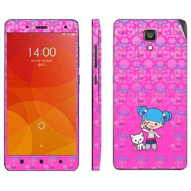Snooky 39207 Digital Print Mobile Skin Sticker For Xiaomi Mi4 - Pink