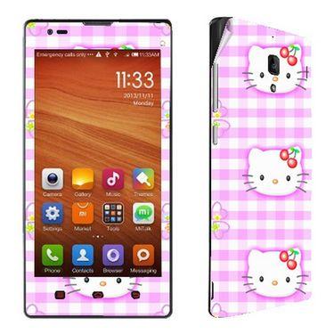 Snooky 39212 Digital Print Mobile Skin Sticker For Xiaomi Redmi 1s - Pink