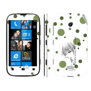 Snooky 39225 Digital Print Mobile Skin Sticker For Nokia Lumia 510 - White