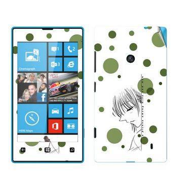 Snooky 39237 Digital Print Mobile Skin Sticker For Nokia Lumia 520 - White