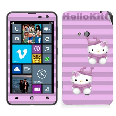Snooky 39259 Digital Print Mobile Skin Sticker For Nokia Lumia 625 - Purple