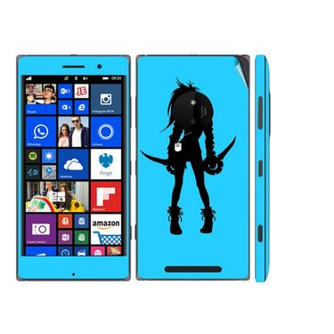 Snooky 39322 Digital Print Mobile Skin Sticker For Nokia Lumia 830 - Blue