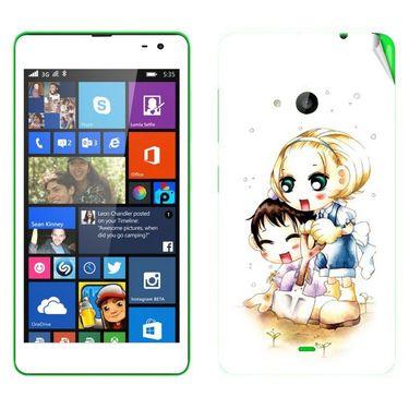 Snooky 39337 Digital Print Mobile Skin Sticker For Microsoft Lumia 535 - White