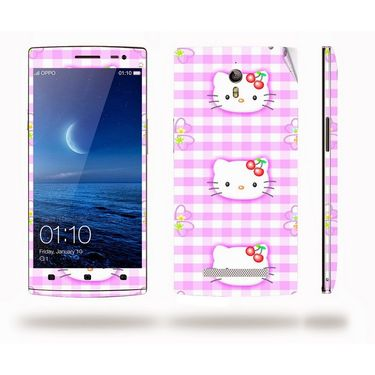 Snooky 39344 Digital Print Mobile Skin Sticker For OPPO Find 7 X9076 - Pink