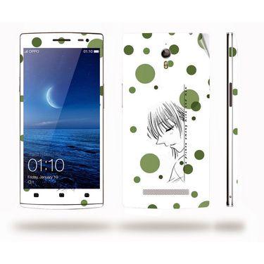 Snooky 39345 Digital Print Mobile Skin Sticker For OPPO Find 7 X9076 - White