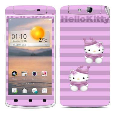 Snooky 39355 Digital Print Mobile Skin Sticker For OPPO N1 Mini - Purple