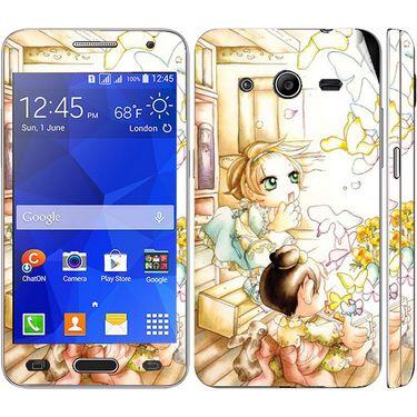 Snooky 39437 Digital Print Mobile Skin Sticker For Samsung Galaxy Core 2 G355h - White