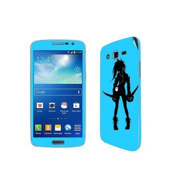 Snooky 39454 Digital Print Mobile Skin Sticker For Samsung Galaxy Grand 2 G7102 - Blue