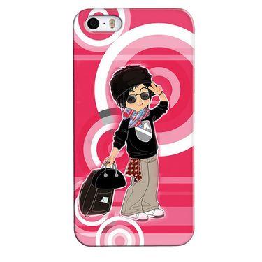 Snooky 35098 Digital Print Hard Back Case Cover For Apple iPhone 4s   - Rose Pink