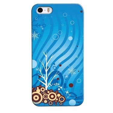 Snooky 35131 Digital Print Hard Back Case Cover For Apple iPhone 4s   - Blue