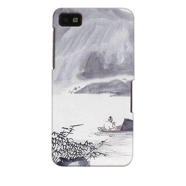 Snooky 35334 Digital Print Hard Back Case Cover For Blackberry Z10 - Grey