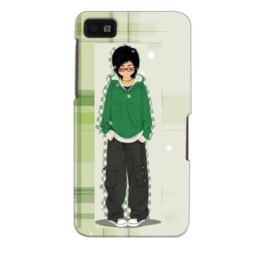Snooky 35344 Digital Print Hard Back Case Cover For Blackberry Z10 - Green