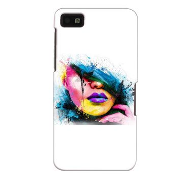 Snooky 35372 Digital Print Hard Back Case Cover For Blackberry Z10 - White
