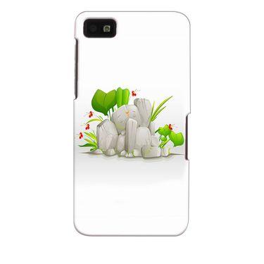 Snooky 35374 Digital Print Hard Back Case Cover For Blackberry Z10 - White