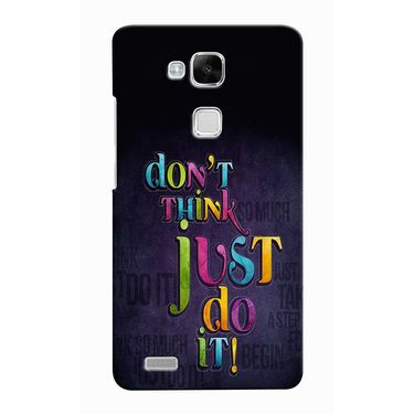 Snooky 37491 Digital Print Hard Back Case Cover For huawei Ascend Mate 7 - Black