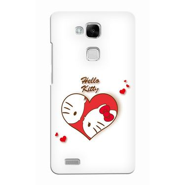 Snooky 37500 Digital Print Hard Back Case Cover For huawei Ascend Mate 7 - White