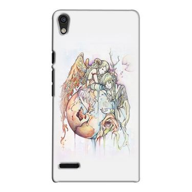 Snooky 38306 Digital Print Hard Back Case Cover For Huawei Ascend P6 - Multicolour