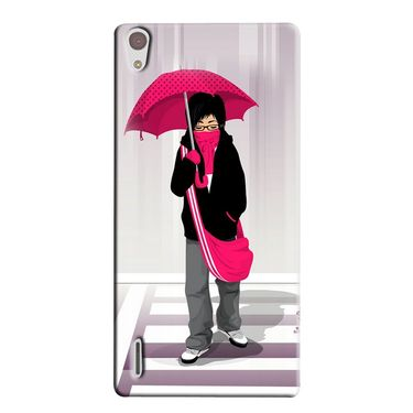 Snooky 38324 Digital Print Hard Back Case Cover For Huawei Ascend P7 - Multicolour