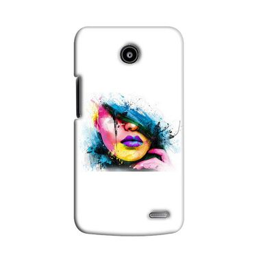Snooky 38553 Digital Print Hard Back Case Cover For Lenovo A820 - White