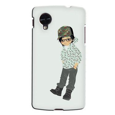 Snooky 35950 Digital Print Hard Back Case Cover For LG Google Nexus 5 - Green