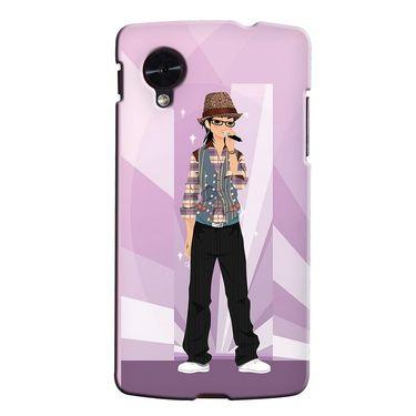 Snooky 35953 Digital Print Hard Back Case Cover For LG Google Nexus 5 - Pink