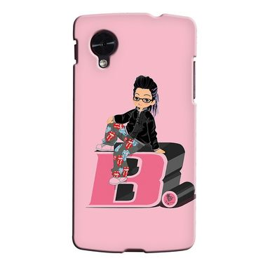 Snooky 35956 Digital Print Hard Back Case Cover For LG Google Nexus 5 - Pink
