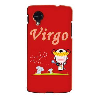 Snooky 35968 Digital Print Hard Back Case Cover For LG Google Nexus 5 - Red