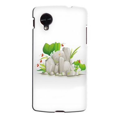 Snooky 35985 Digital Print Hard Back Case Cover For LG Google Nexus 5 - White