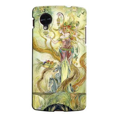 Snooky 35987 Digital Print Hard Back Case Cover For LG Google Nexus 5 - Green