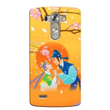Snooky 37618 Digital Print Hard Back Case Cover For LG G3 - Orange