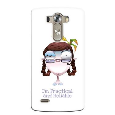 Snooky 37646 Digital Print Hard Back Case Cover For LG G3 - White