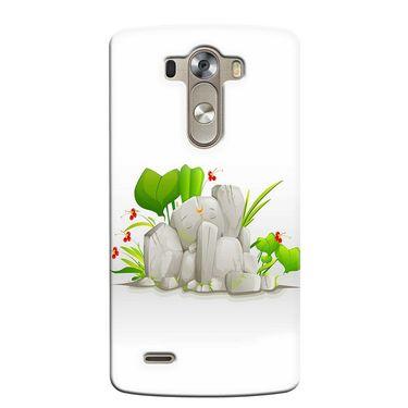 Snooky 37655 Digital Print Hard Back Case Cover For LG G3 - White