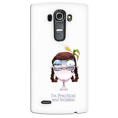 Snooky 37946 Digital Print Hard Back Case Cover For LG G4 - White