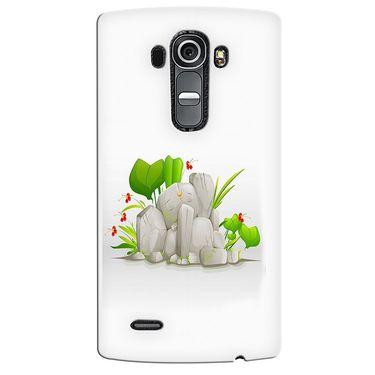 Snooky 37955 Digital Print Hard Back Case Cover For LG G4 - White