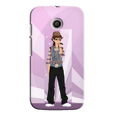 Snooky 35803 Digital Print Hard Back Case Cover For Motorola Moto E - Pink