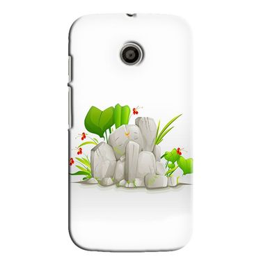 Snooky 35835 Digital Print Hard Back Case Cover For Motorola Moto E - White