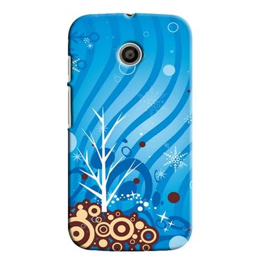 Snooky 35842 Digital Print Hard Back Case Cover For Motorola Moto E - Blue