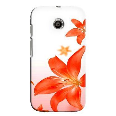 Snooky 35844 Digital Print Hard Back Case Cover For Motorola Moto E - White