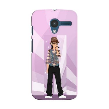 Snooky 35853 Digital Print Hard Back Case Cover For Motorola Moto X - Pink