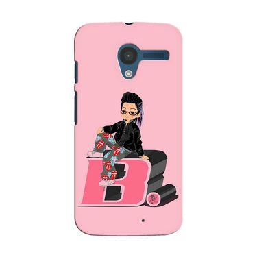 Snooky 35856 Digital Print Hard Back Case Cover For Motorola Moto X - Pink