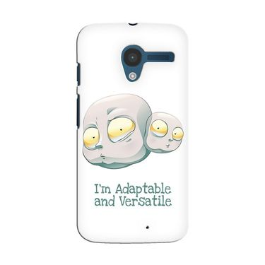 Snooky 35872 Digital Print Hard Back Case Cover For Motorola Moto X - White