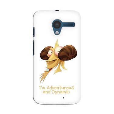 Snooky 35878 Digital Print Hard Back Case Cover For Motorola Moto X - White