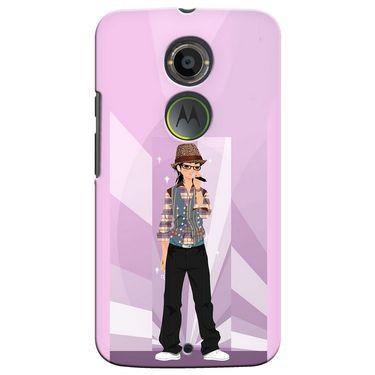 Snooky 35903 Digital Print Hard Back Case Cover For Motorola Moto X2 - Pink