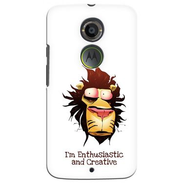 Snooky 35923 Digital Print Hard Back Case Cover For Motorola Moto X2 - White