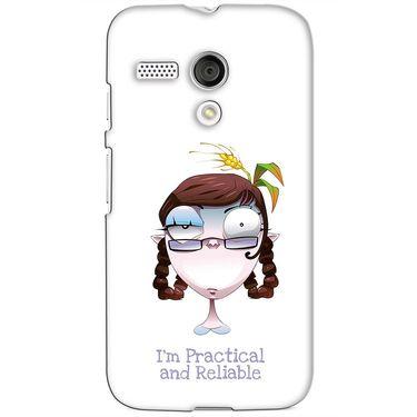 Snooky 38596 Digital Print Hard Back Case Cover For Motorola Moto G - White